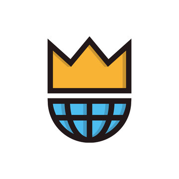 King of the world symbol icon or logo