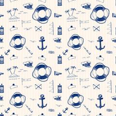 Marine pattern ballpoint pen