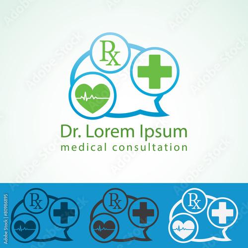 Medical pharmacy logo design template. Doctor identity mock up ...