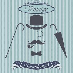 Retro gentleman elements set. Vintage sign. Old fashiond theme