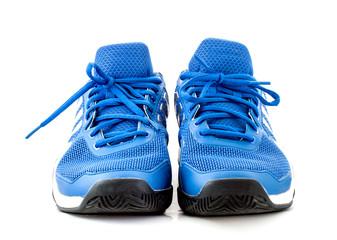modern tennis shoe on white background
