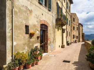 イタリア トスカーナ ピエンツァの家々