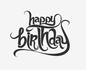 Happy Birthday text made of handwriting vector design element.