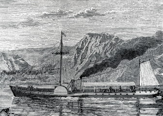 North River Steamboat (Clermont) (Fulton, Livingston, 1807)