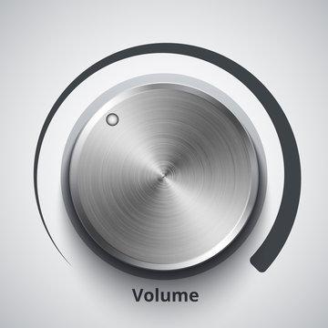 Vector volume knob with metal texture