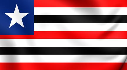 Flag of Maranhao, Brazil.