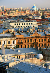 Russia. Top view of the historic district in St. Petersburg