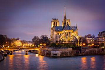 Cathedral of Notre Dame, Ile de La Cite, Paris, France
