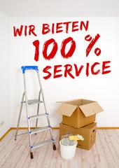 Wir bieten 100% Service