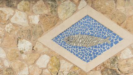 Maritimes Bild Fisch mit Textfreiraum