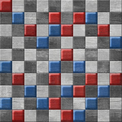 Abstract paneling pattern - button pattern - national colors