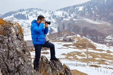 Photographer on the mountains