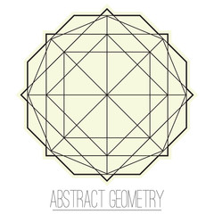 Abstract geometric figure with rhombus, square