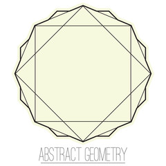 Simple geometric element with square and polygon