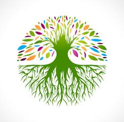 Abstract Vitality Tree Logo