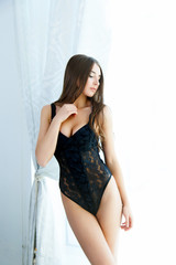 Sexy young pretty woman wearing lingerie