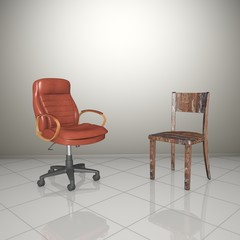 Office chair and old chair