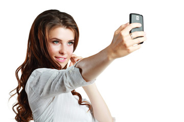 woman taking self picture