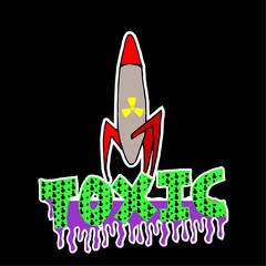 toxic explosive warhead over degrade background