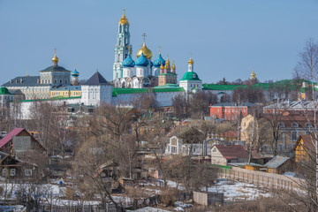 View of Trinity Sergius Lavra in Sergiev Posad.