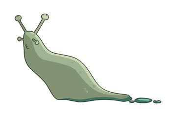 funny cartoon slug