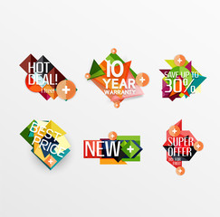 Set of labels, stickers, banners, badges and elements for sale