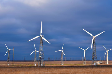 Group of windmill for renewable electric energy production