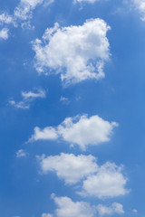 Abstract blue sky with tiny cloud.