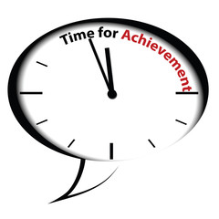 "Bubble clock ""Time for Achievement"", vector"