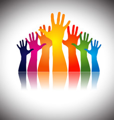 hands together showing unity