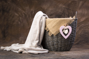 Photography studio basket prop