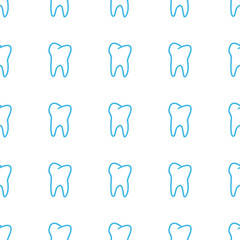 Unique Tooth seamless pattern