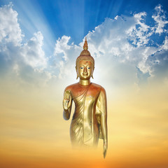 Image of Buddha in Conceptual Surreal style