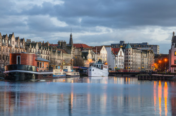 Historic Harbour in Leith, Edinburgh