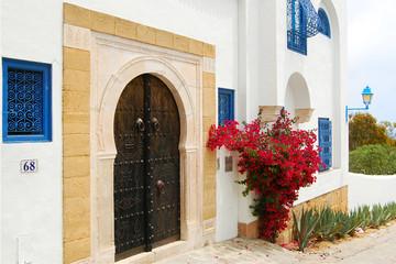 Poster de jardin Tunisie The door in Tunisia