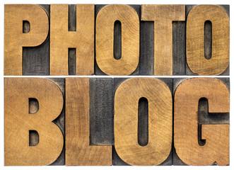 photoblog typography in wood type