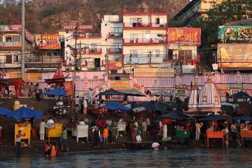 Die Heilige Stadt Haridwar am Ganges in Indien