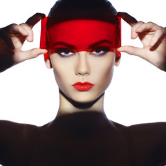 Elegant futuristic lady