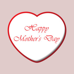 Mothers Day card with heart and text