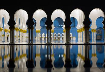 Fotobehang Midden Oosten Abu-Dhabi Grand Moss, evening lights
