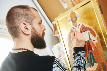 religious icon painting process