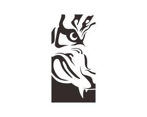 abstract tiger logo