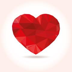 polygonal heart. Love symbol