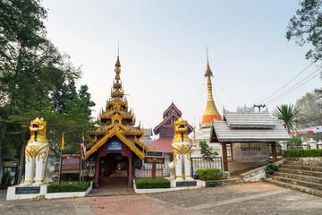 Thai-Burmese fusion art of Maehongson temple