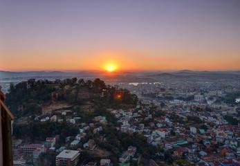 Sunset over Antananarivo Madagascar