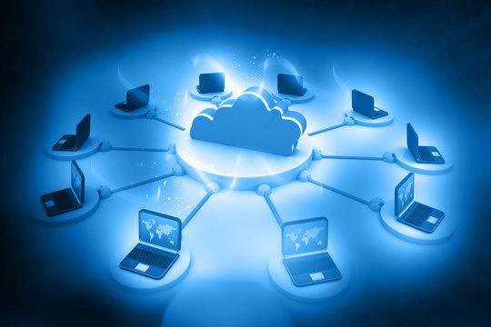 Cloud computing concept..