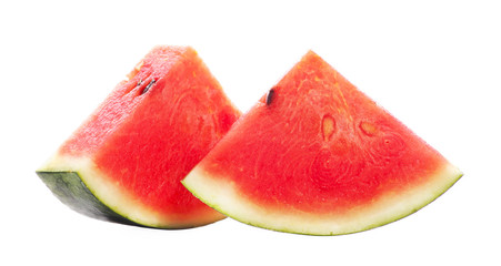 Slice of watermelon isolated on a white background
