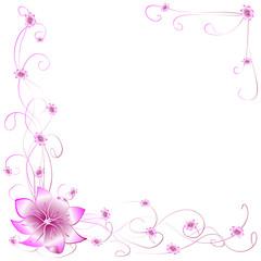 Postcard pink flowers