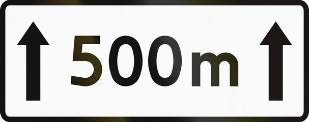 Image result for 500 Meter sign