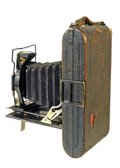 Antique old photo Camera for roll film